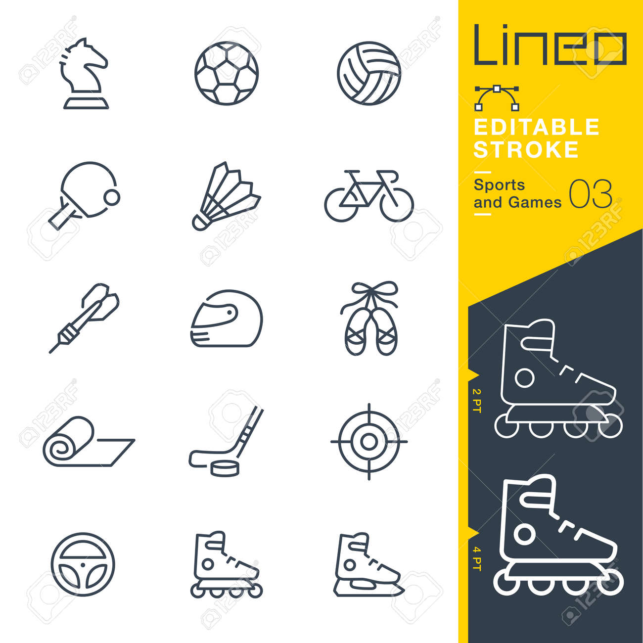 Lineo Editable Stroke - Sports and Games line icons Vector Icons - Adjust stroke weight - Change to any color - 85641773