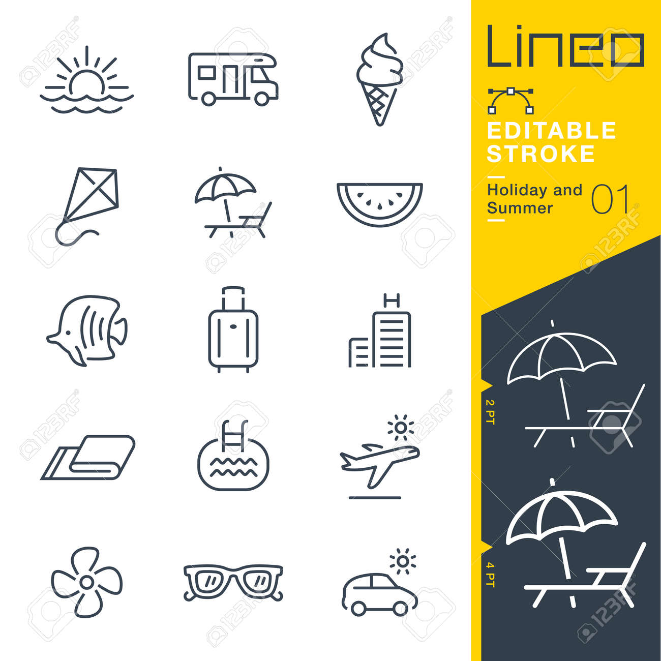 Set of summer and holiday icons. - 85863190