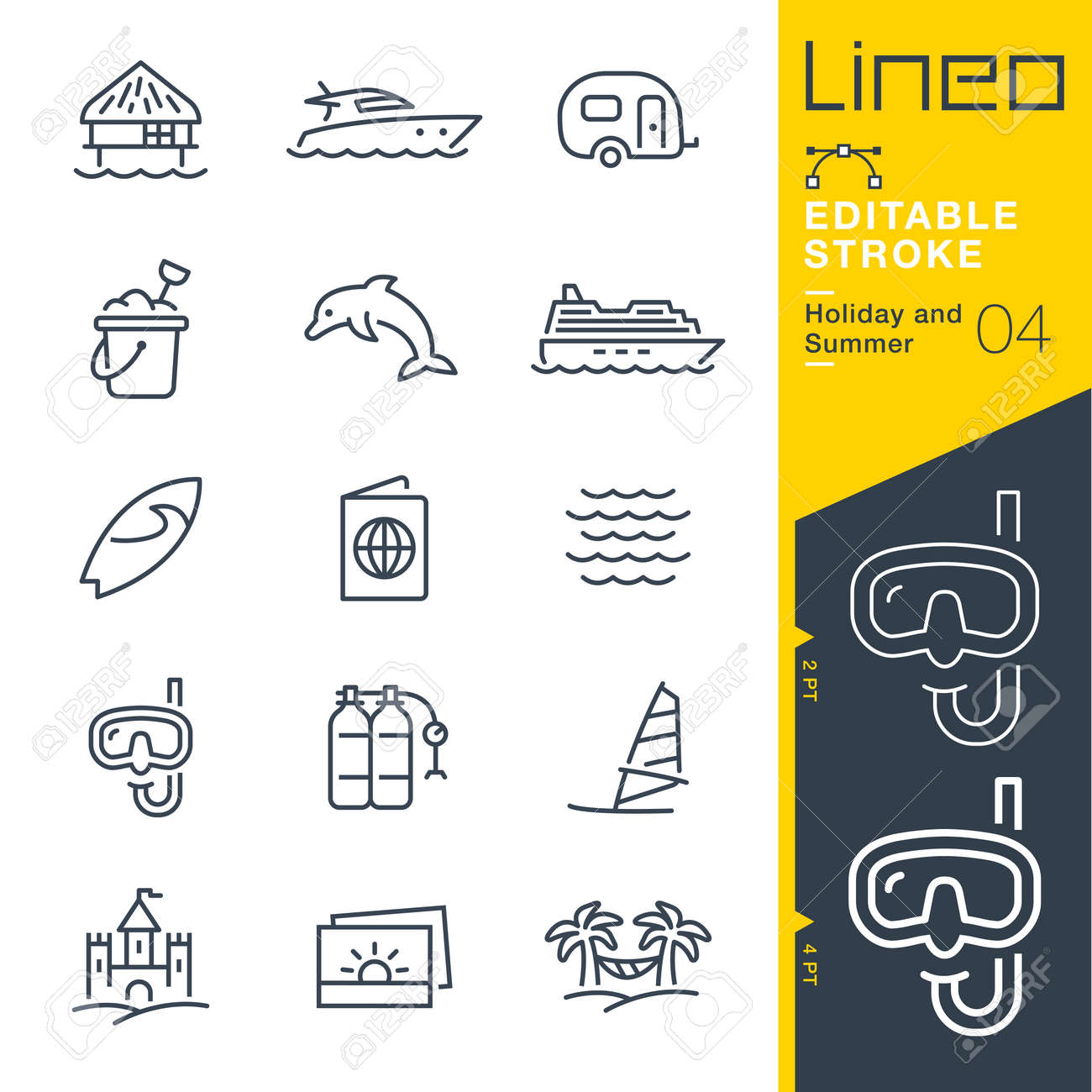 Lineo Editable Stroke - Holiday and Summer line icon Vector Icons - Adjust stroke weight - Change to any color - 86056261