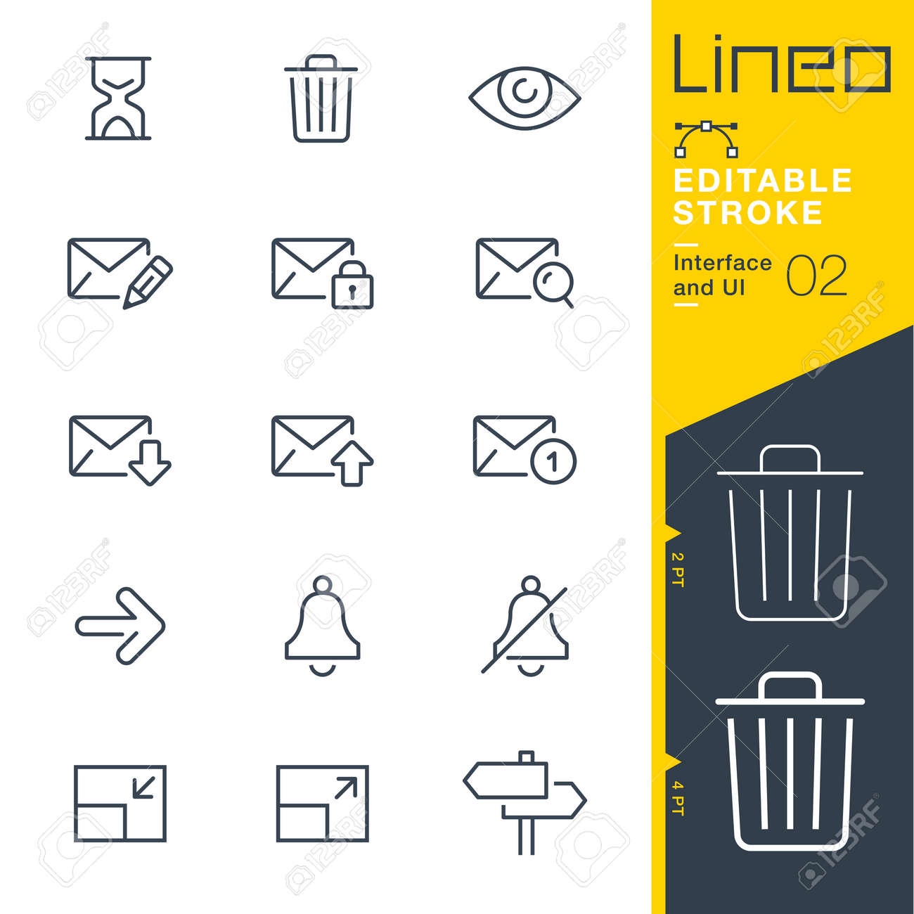 Lineo Editable Stroke - Interface and UI line icon Vector Icons - Adjust stroke weight - Change to any color - 86959602