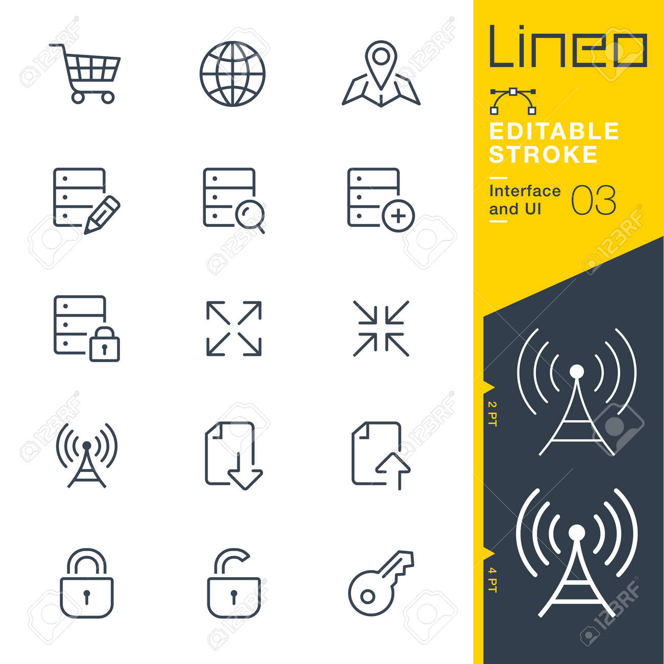 Lineo Editable Stroke - Interface and UI line icon Vector Icons - Adjust stroke weight - Change to any color - 86959603