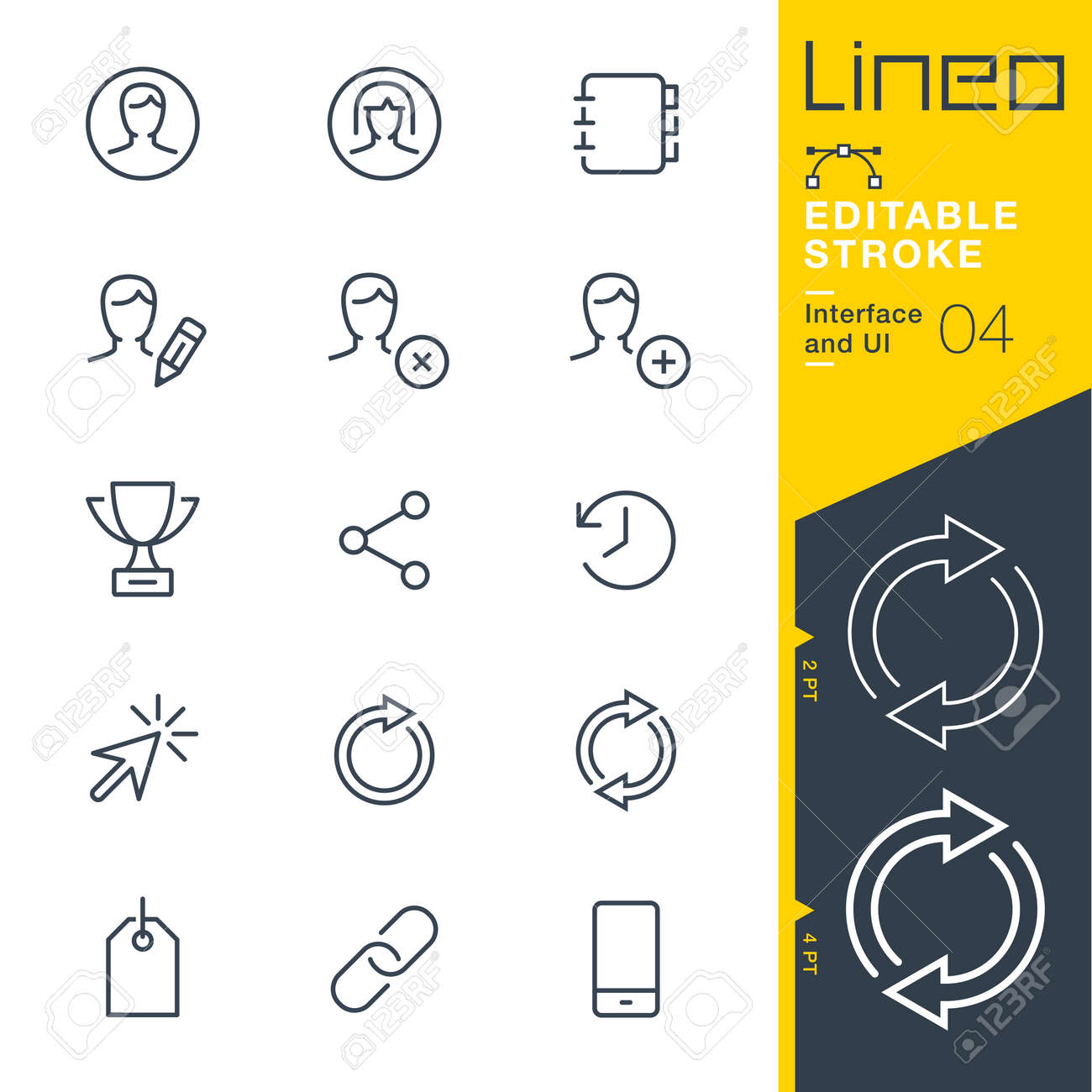 Lineo Editable Stroke - Interface and UI line icon Vector Icons - Adjust stroke weight - Change to any color - 86959604