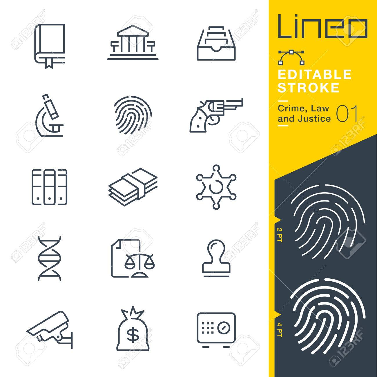 Lineo Editable Stroke - Crime, Law and Justice line icon Vector Icons - Adjust stroke weight - Change to any color - 87049477
