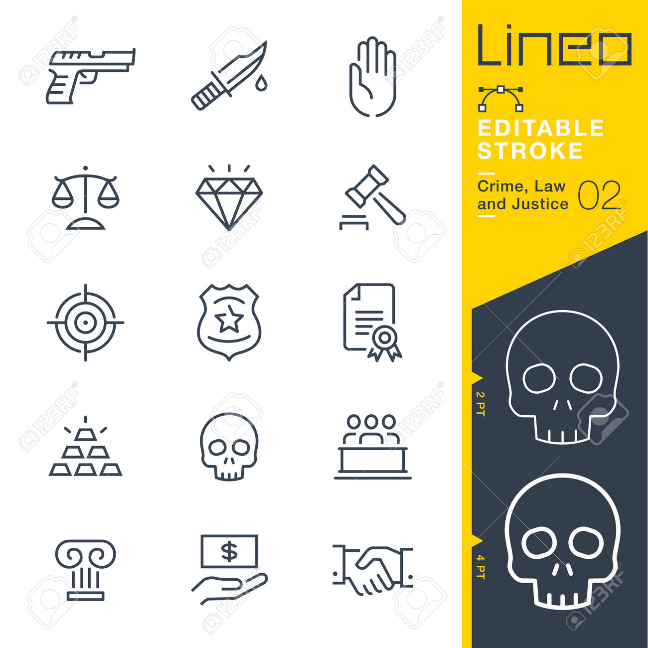 Lineo Editable Stroke - Crime, Law and Justice line icon Vector Icons - Adjust stroke weight - Change to any color - 87049478