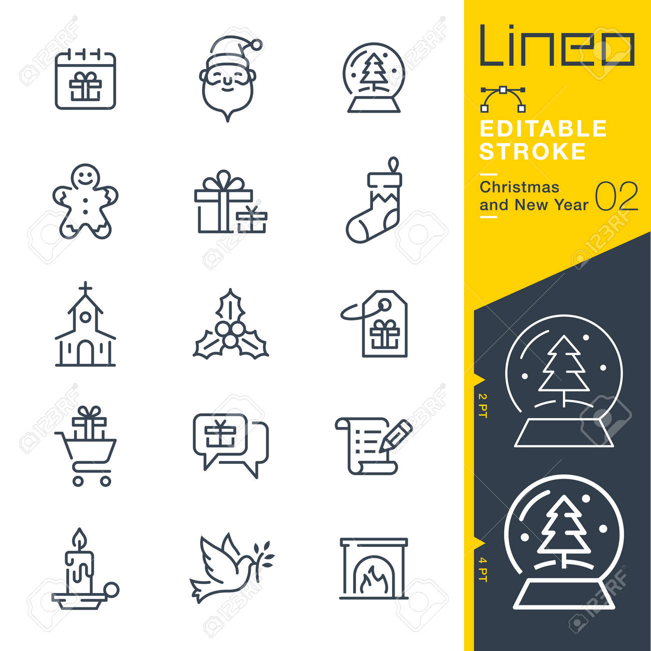 Lineo Editable Stroke - Christmas and New Year line icon Vector Icons - Adjust stroke weight - Change to any color - 87431924