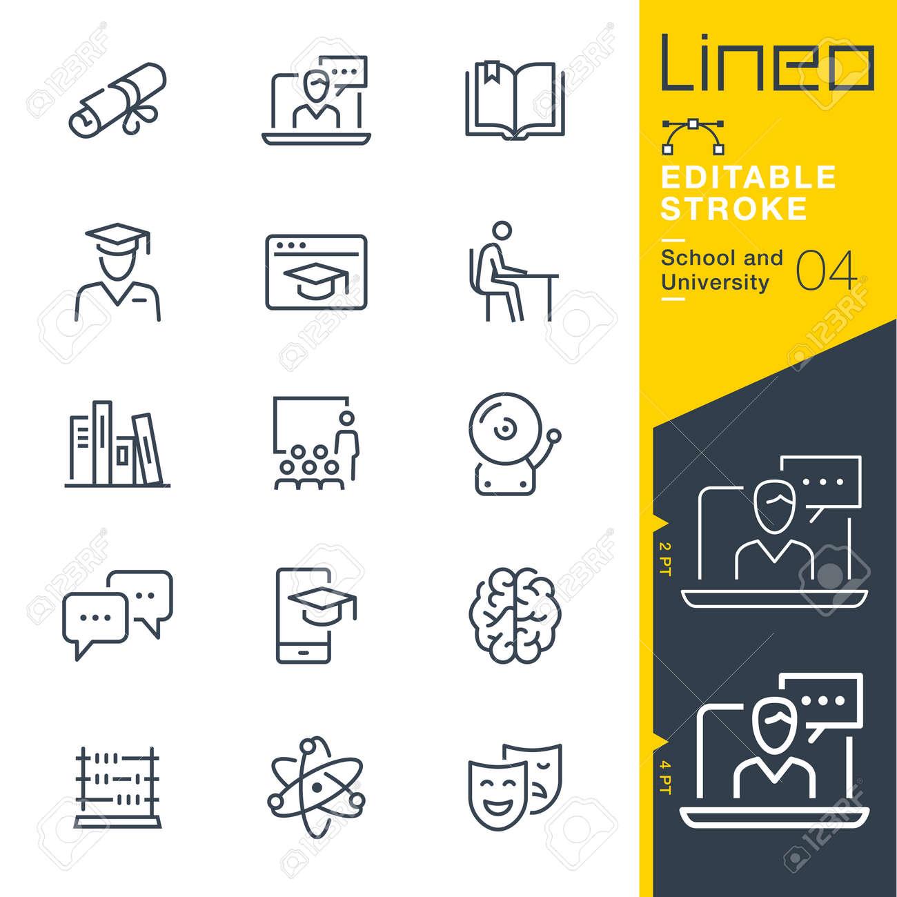 Lineo Editable Stroke - School line icons - 92652290