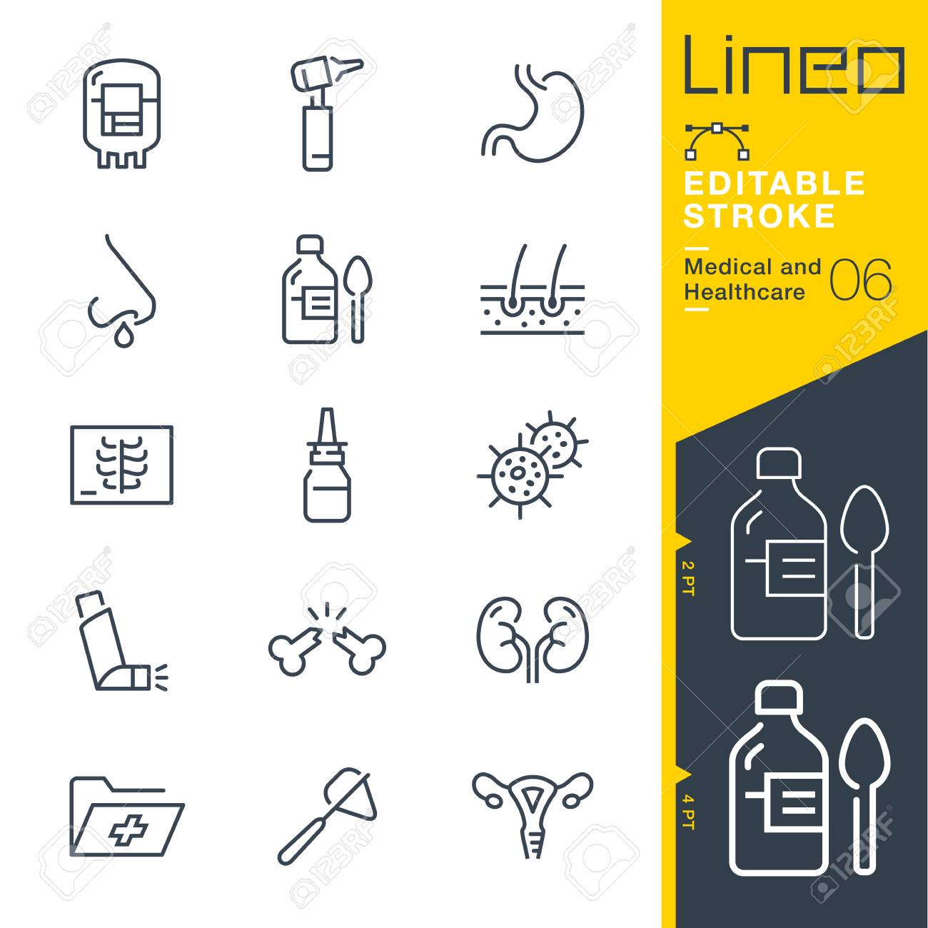 Lineo Editable Stroke - Medical and Healthcare Line Icons - 98544825