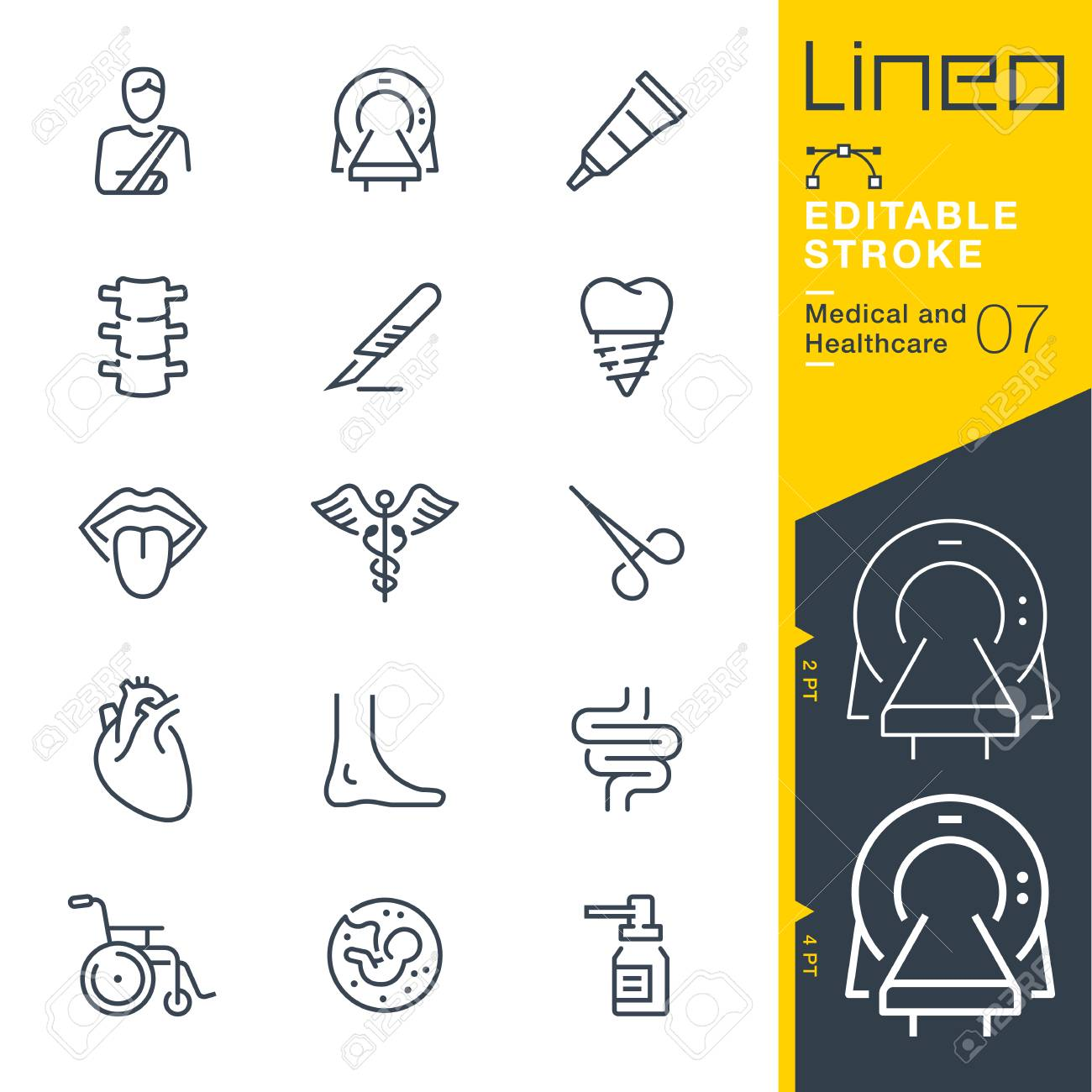 Line Editable Stroke - Medical and Healthcare Line Icons Vector illustration. - 99969161