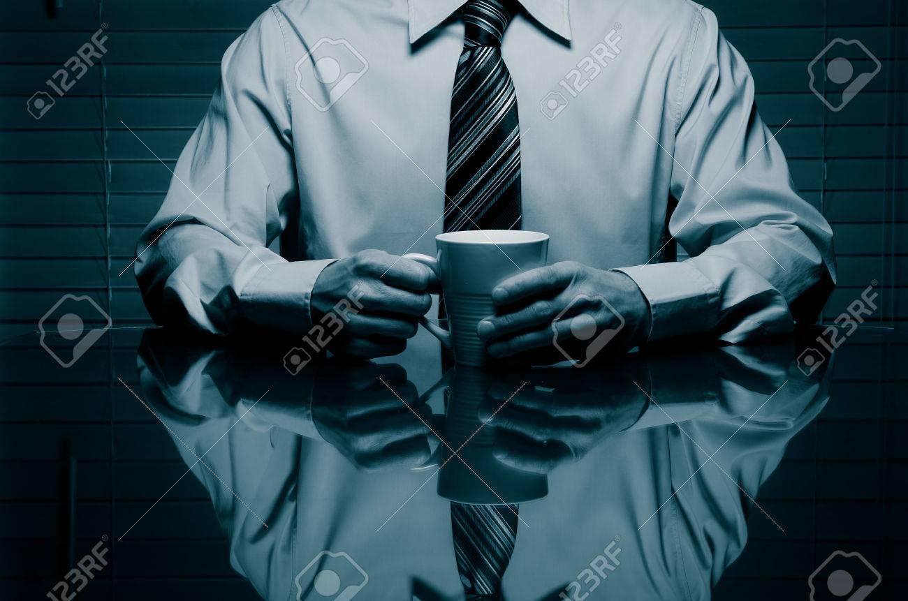 Man with a mug - 38154161