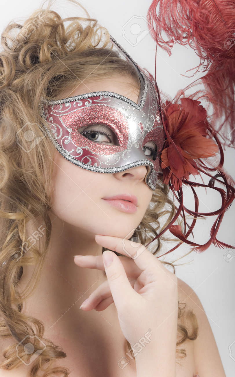 Portrait women with carnival mask Stock Photo - 11333932