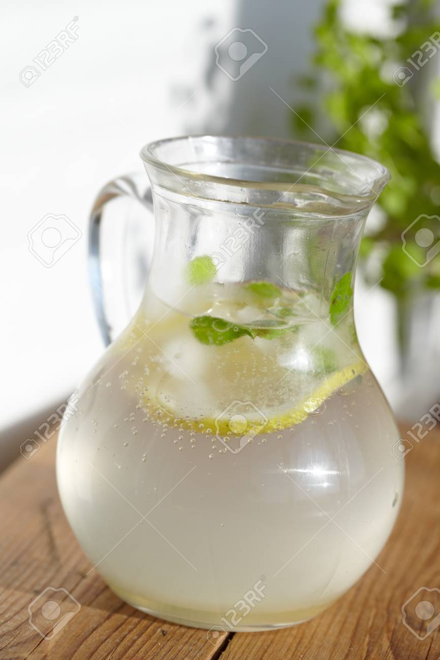 Fresh cold ginger lemonade with ice Stock Photo - 20226509
