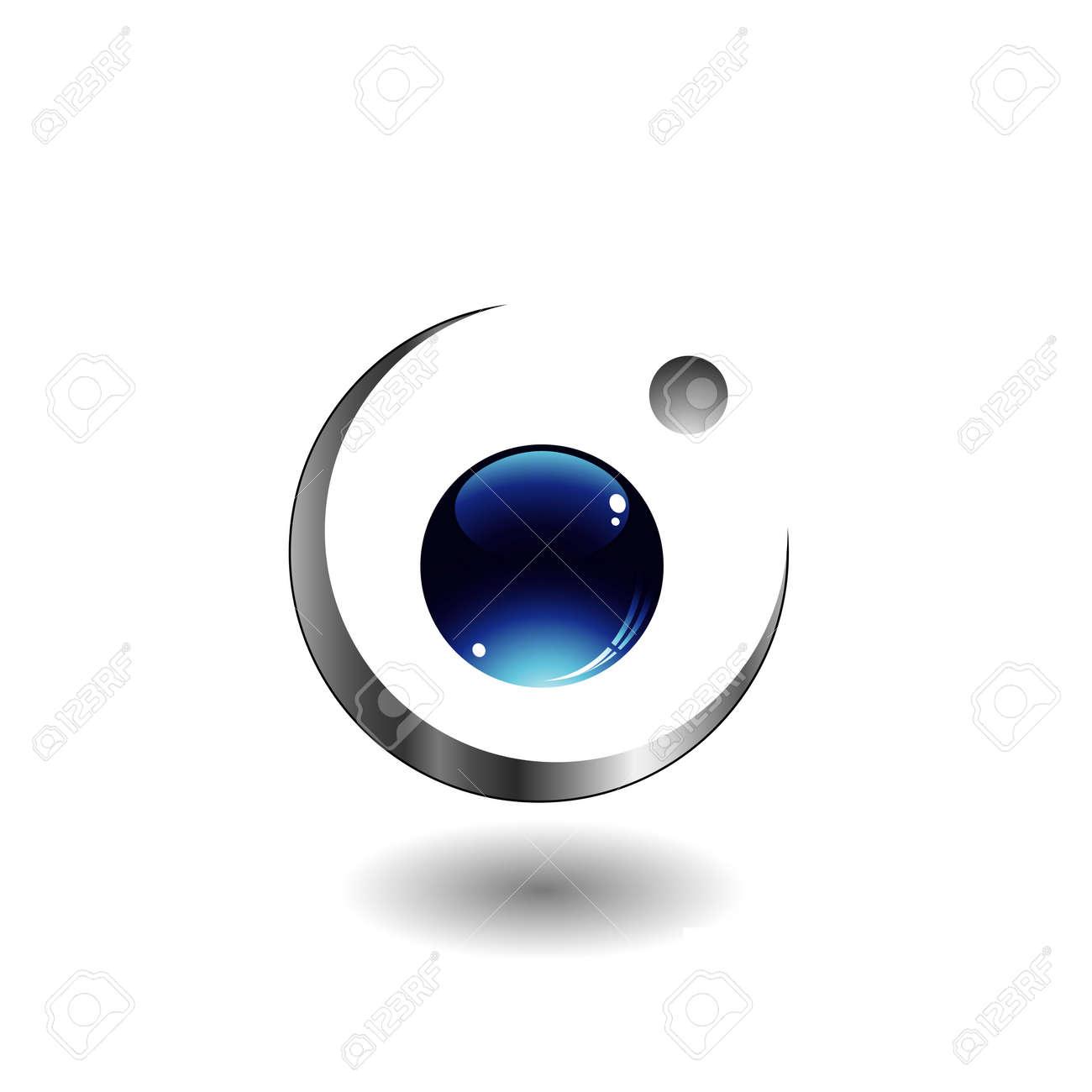 3d ball logo Stock Vector - 17372684
