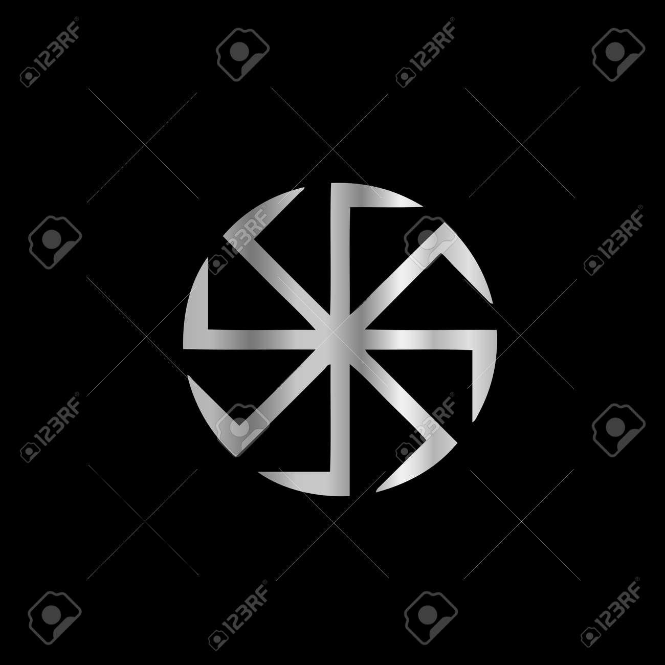 Slavik religion- The Kolovrat symbol Stock Vector - 18349153