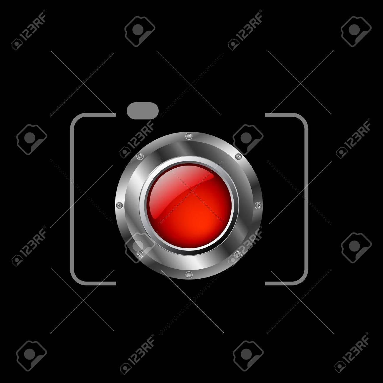 Red digital camera Stock Vector - 19338383