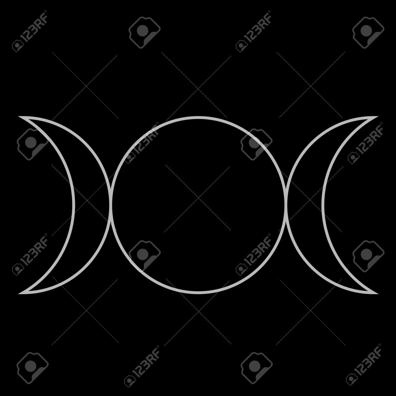 Wiccan symbol triple goddess neopaganism royalty free cliparts wiccan symbol triple goddess neopaganism stock vector 19332154 biocorpaavc Choice Image