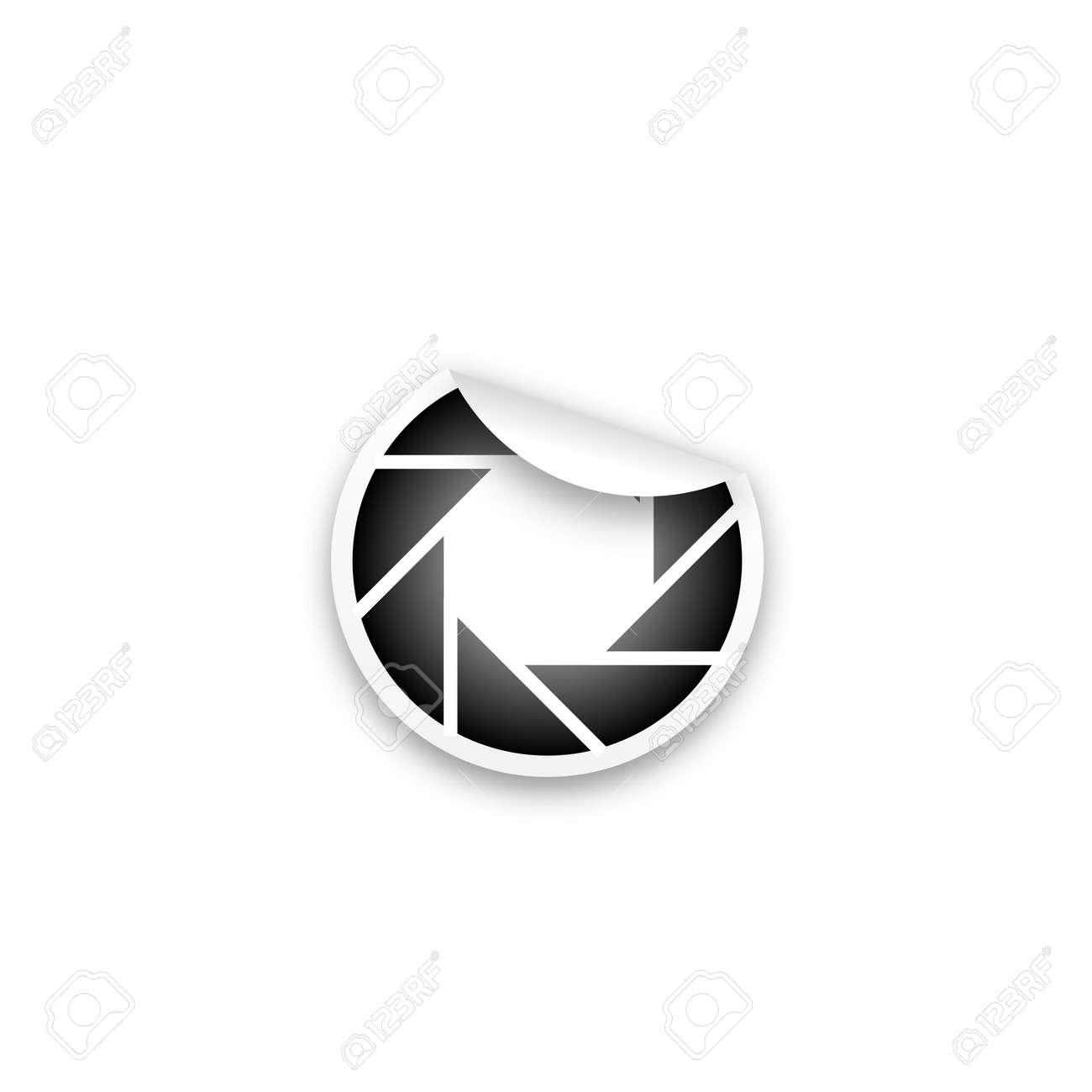 snapshot sticker Stock Vector - 19396475