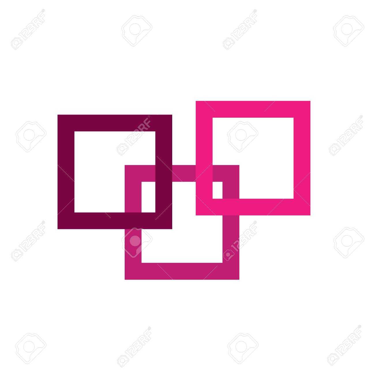 Pink abstract icon Stock Photo - 19396489