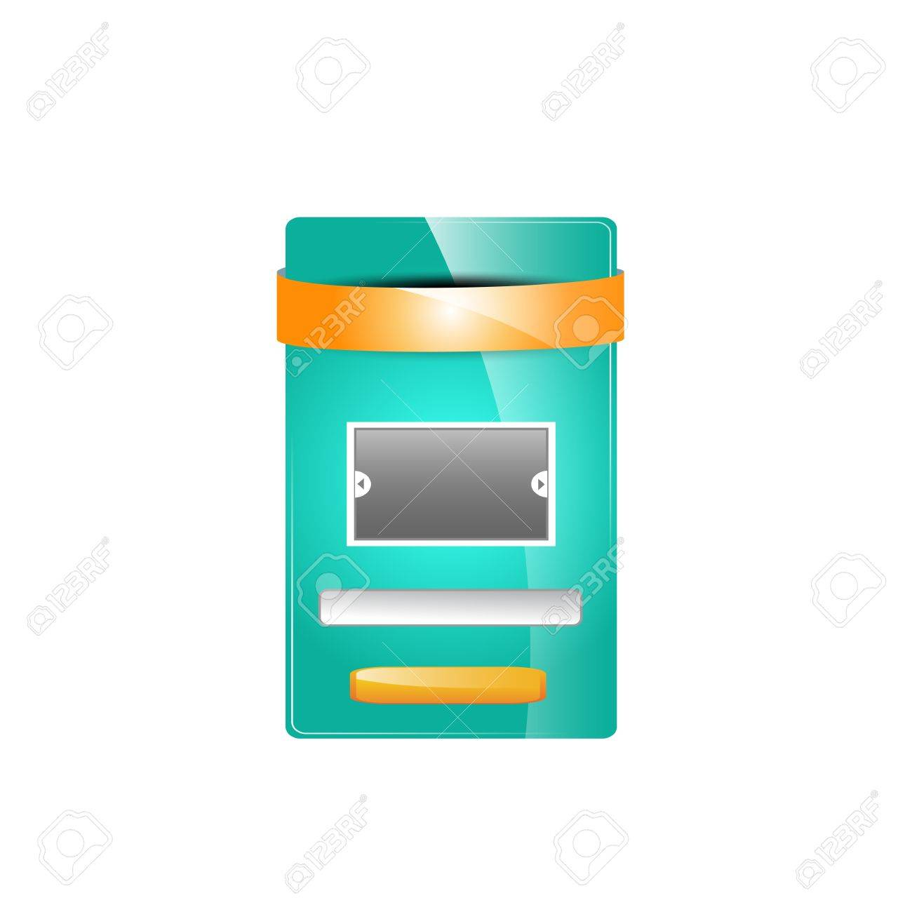 web message box or opt in box Stock Vector - 19942226