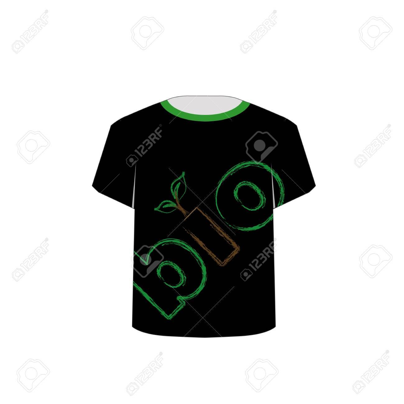 T Shirt Template- eco friendly design Stock Vector - 22719434