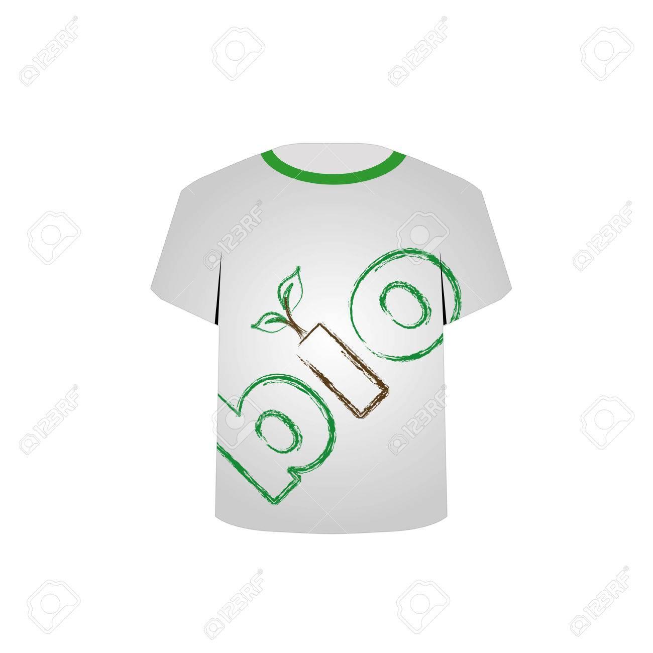 T Shirt Template- eco friendly design Stock Vector - 22719436