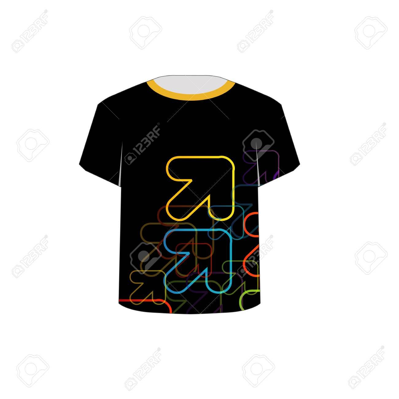 T Shirt Template- fractal arrows Stock Vector - 22719390