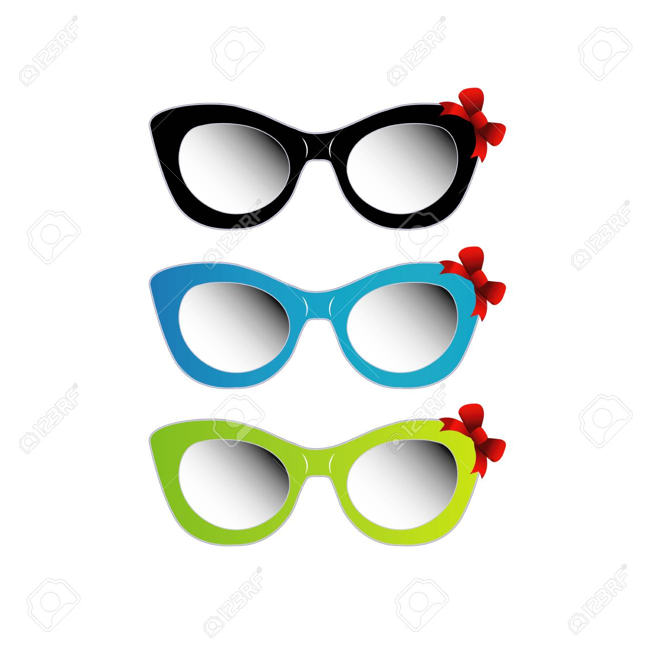 3ebe0f28f00 Colorful cat eye sunglasses Stock Vector - 26507906
