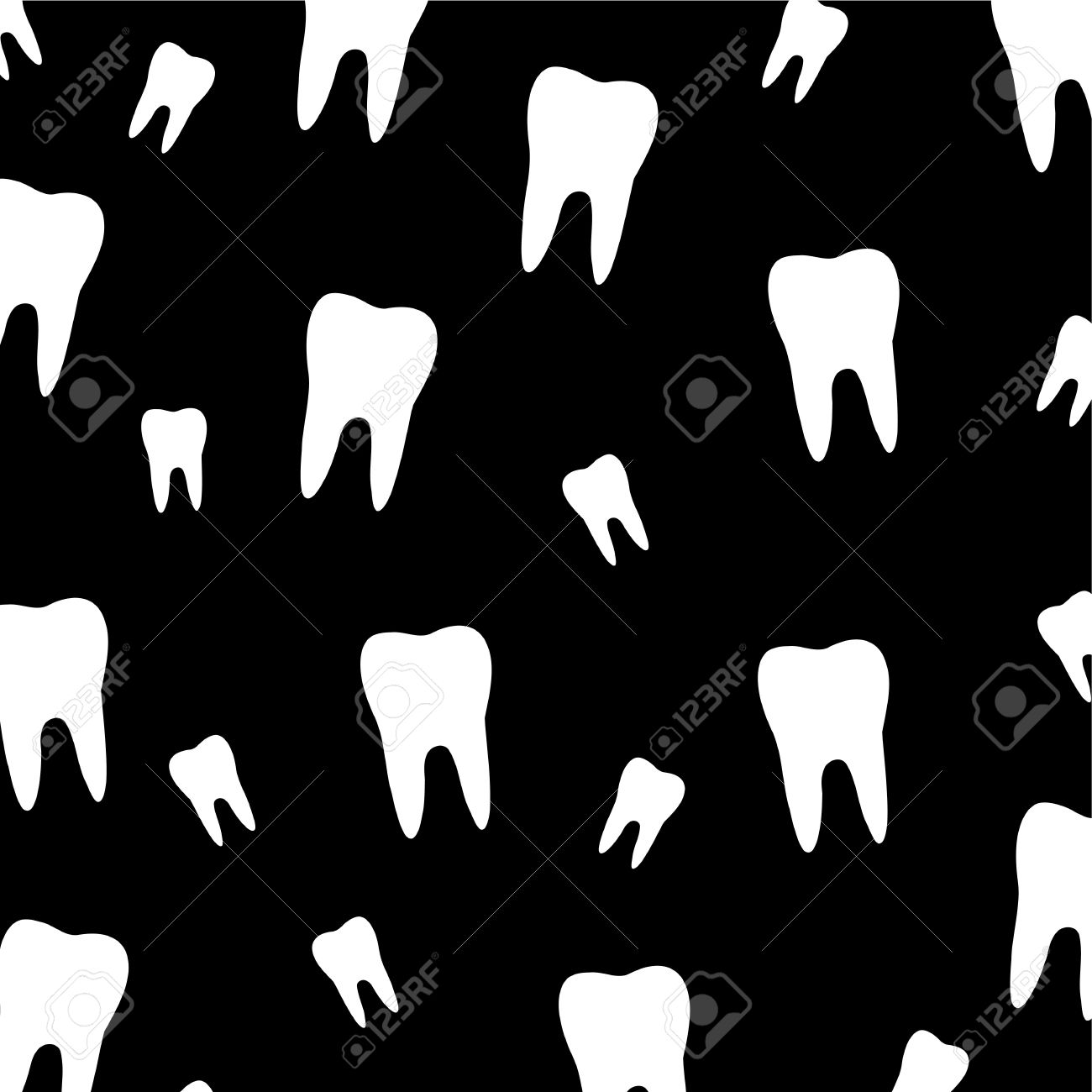 Tooth Wallpaper For Dentist Stock Vector