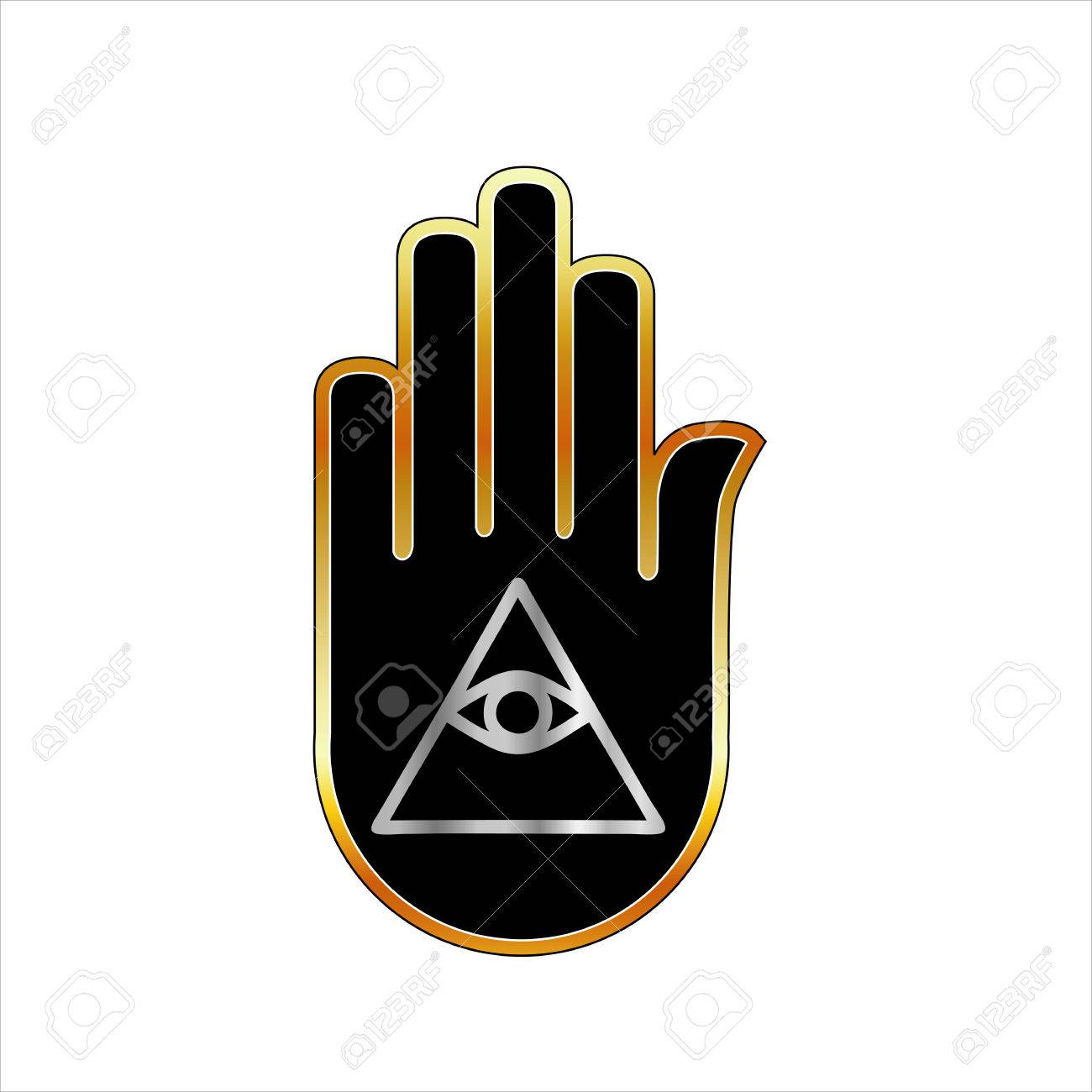 Eye Of Providence In Hand Religious Symbol Royalty Free Cliparts