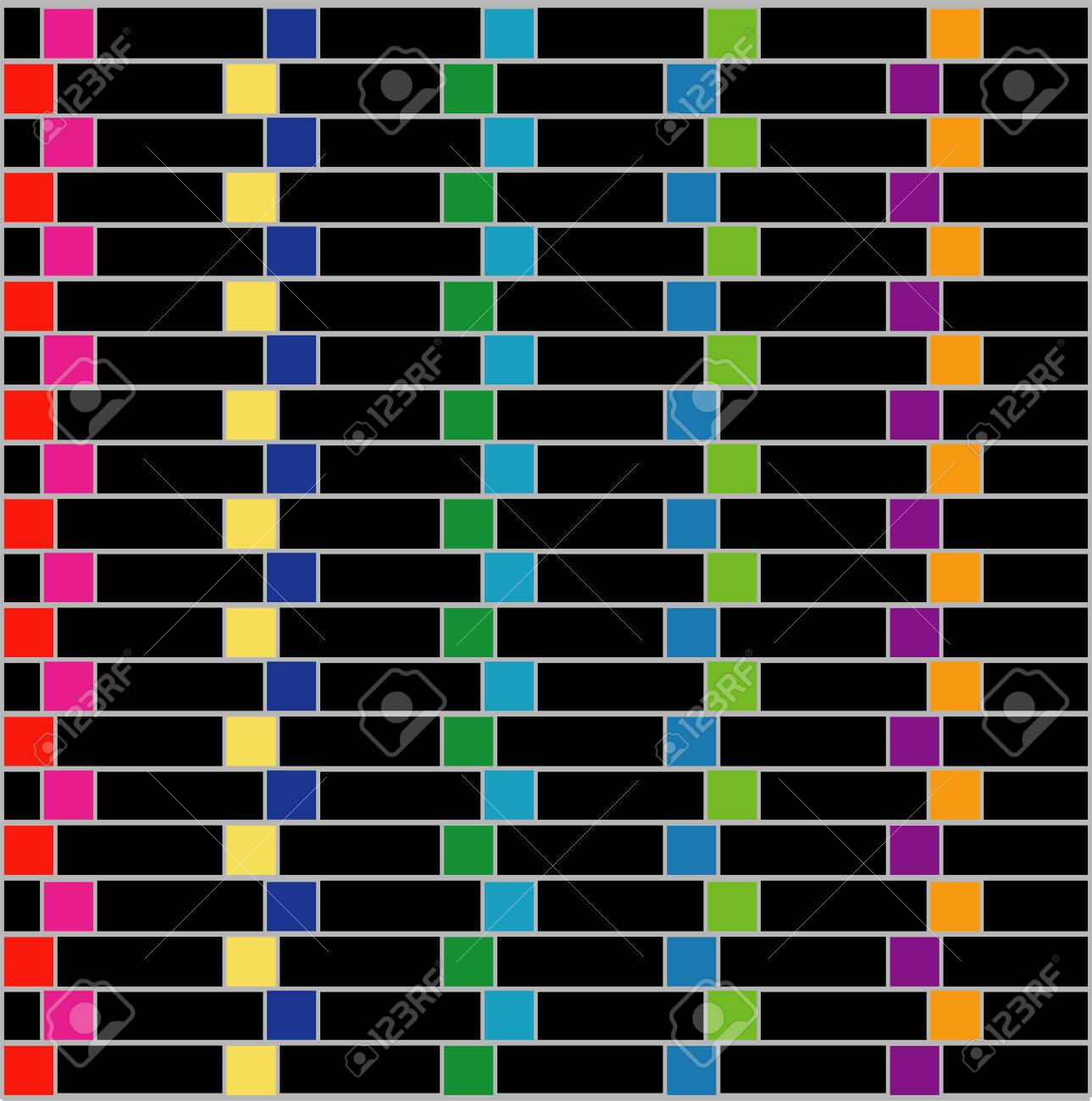 Colorful illusion background Stock Vector - 26704926