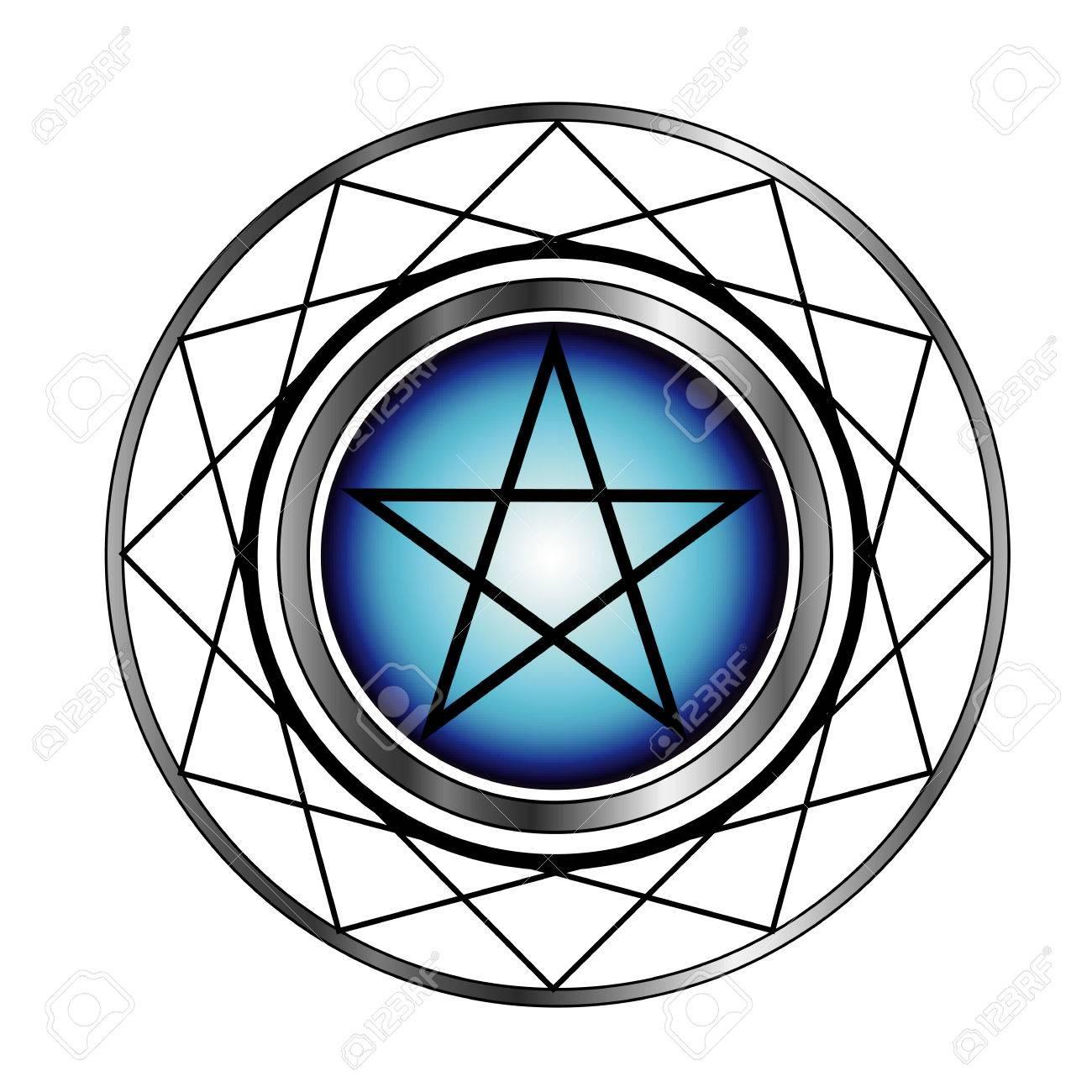 Pentacle Religious Symbol Satanism Royalty Free Cliparts Vectors
