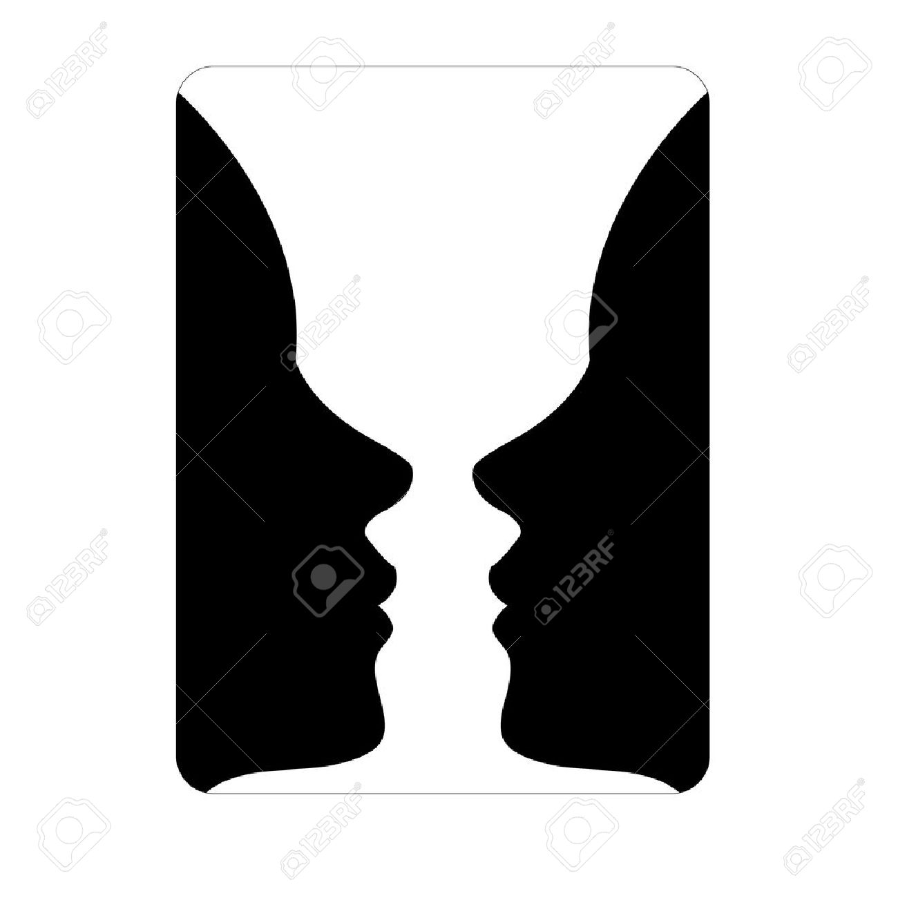 Faces or vase illusion of two faces appearing like a vase faces or vase illusion of two faces appearing like a vase stock vector 32566288 reviewsmspy