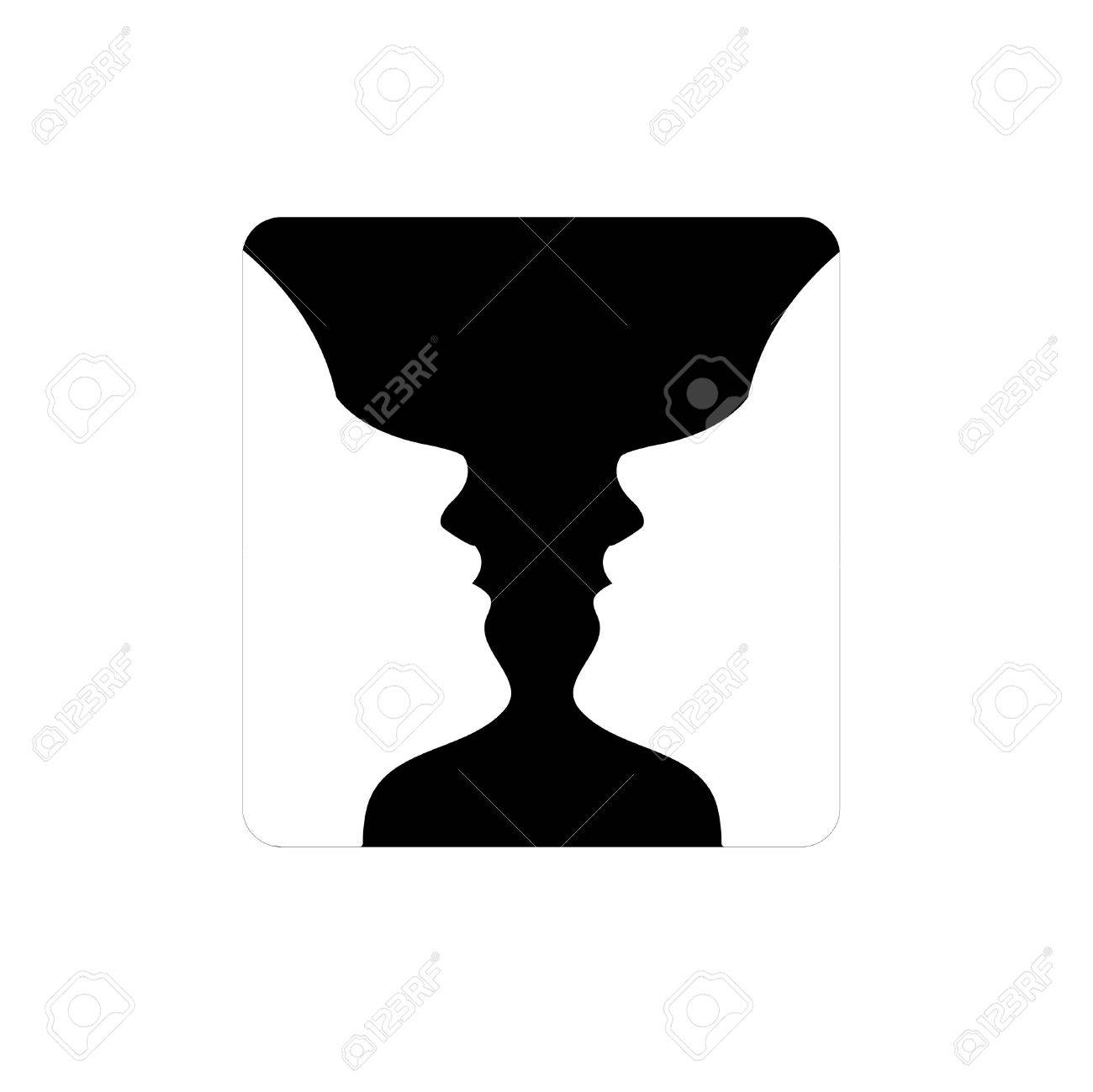Faces or vase illusion of two faces appearing like a vase faces or vase illusion of two faces appearing like a vase stock vector 32566289 reviewsmspy