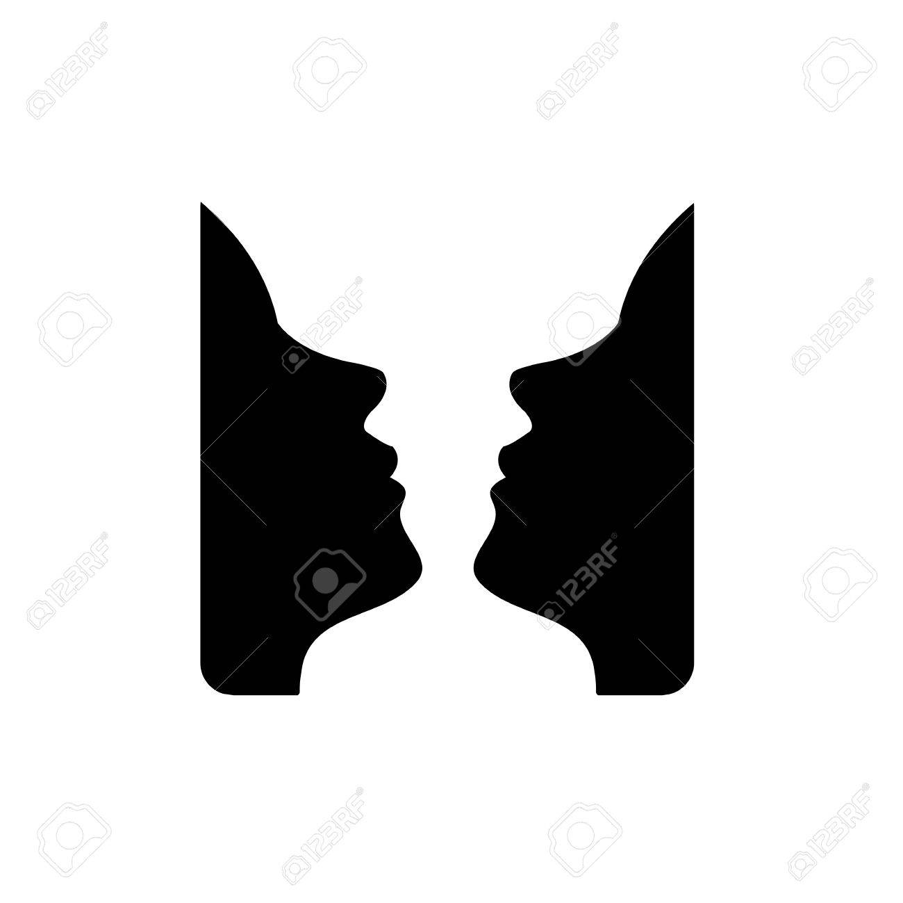 Faces or vase illusion of two faces appearing like a vase royalty faces or vase illusion of two faces appearing like a vase stock vector 32700084 reviewsmspy
