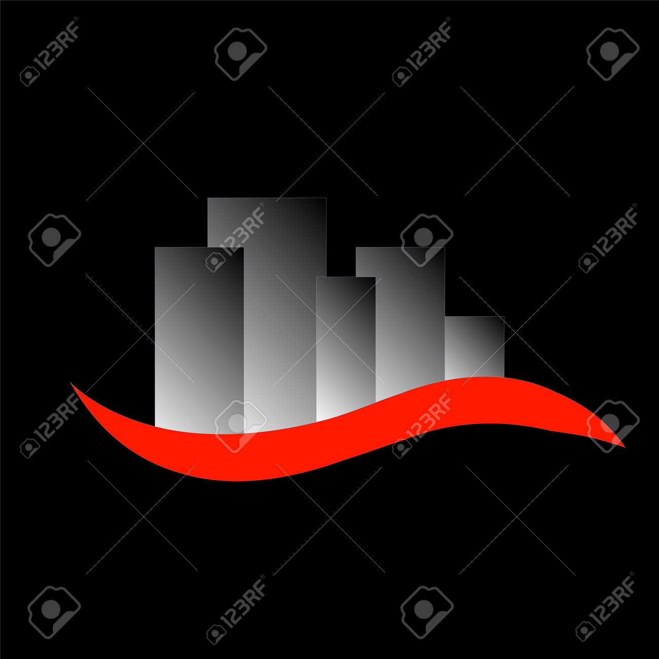 Abstract Skyscrapers Logo For Real Estate Or Architecture Firm Stock Vector