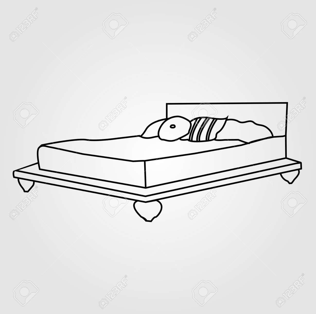 dibujo de muebles de dormitorio ilustraciones vectoriales, clip ... - Dibujo De Muebles