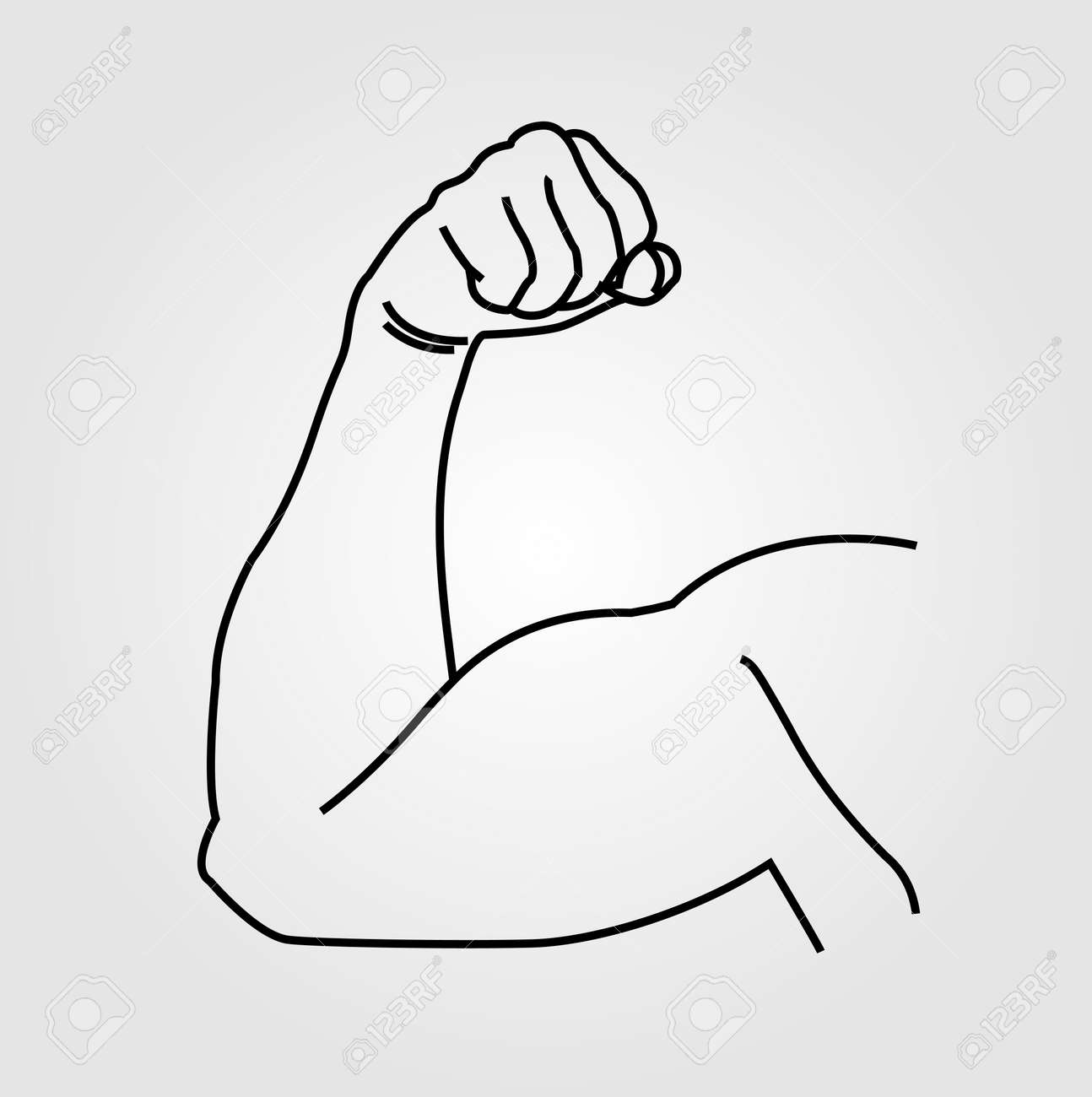 Abstract drawing of a mans arm flex stock vector 44662185