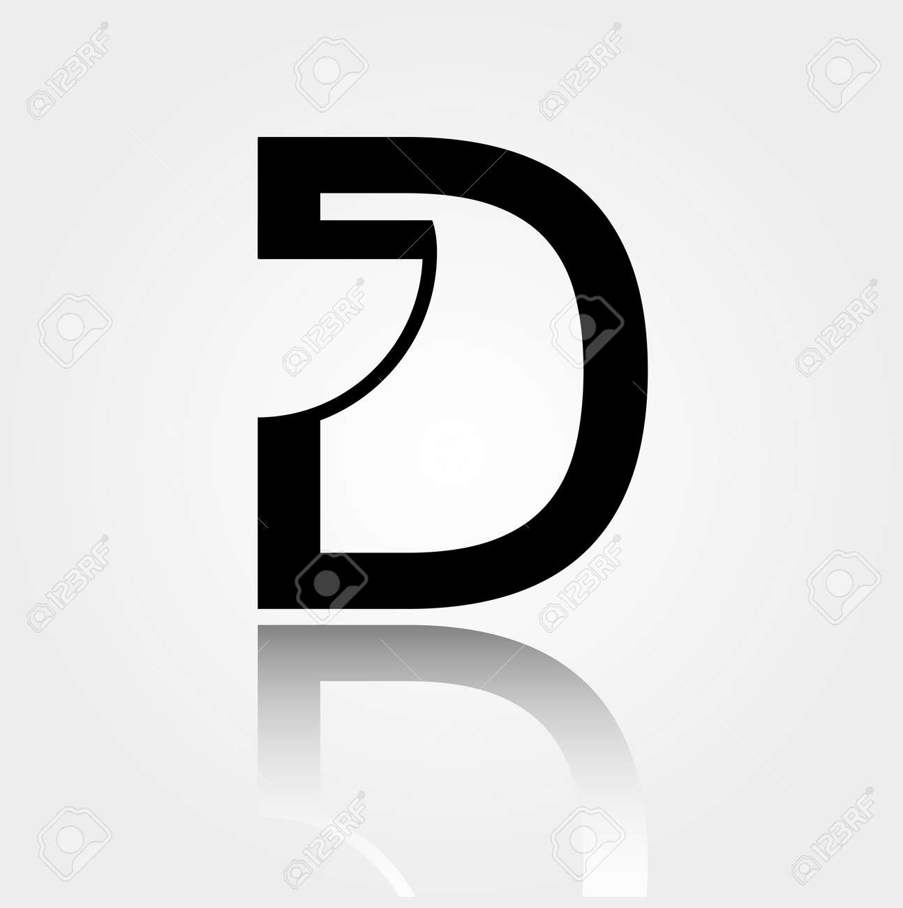 D For Design Icon Interior Or Architecture Showing Space With Door Plan Stock