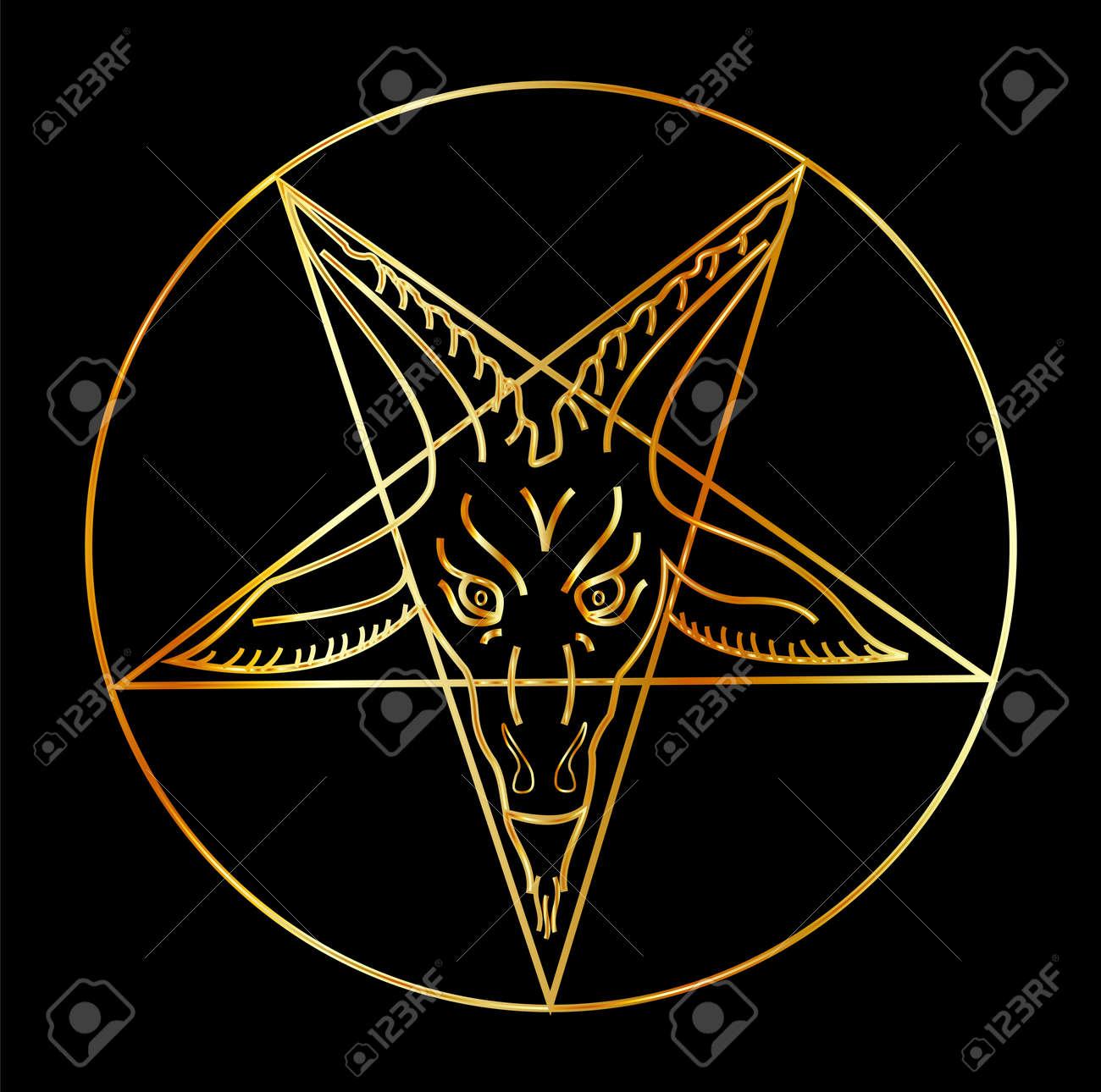 Golden sigil of baphomet satanism symbol royalty free cliparts golden sigil of baphomet satanism symbol stock vector 53140864 biocorpaavc Choice Image