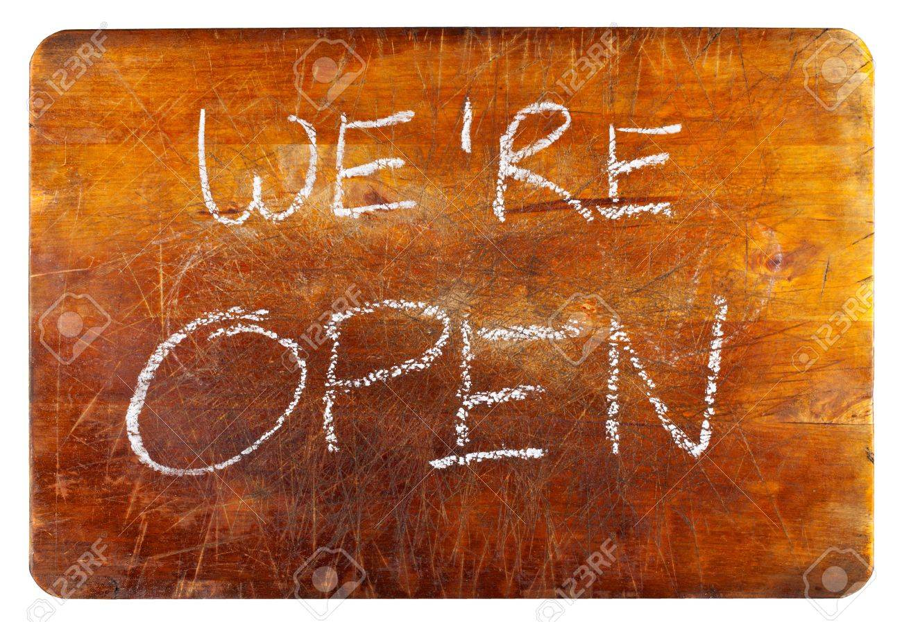 We are open Stock Photo - 11956116