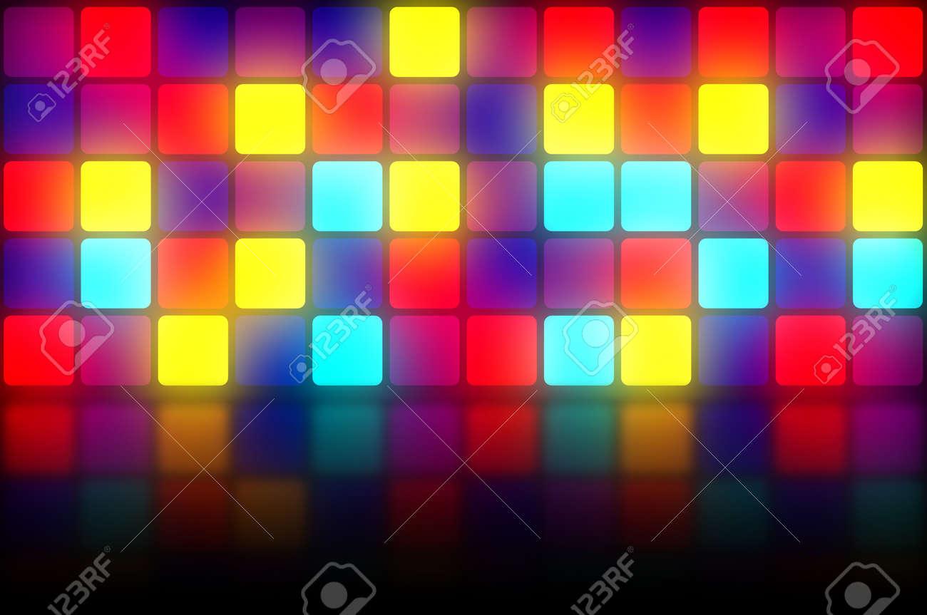 luces de discoteca club de la pista de baile de colores de fondo con
