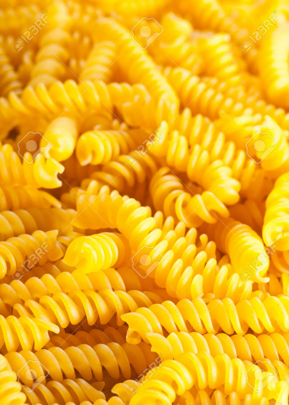 Background from raw italian spirelli  fusilli  pasta Stock Photo - 12962863