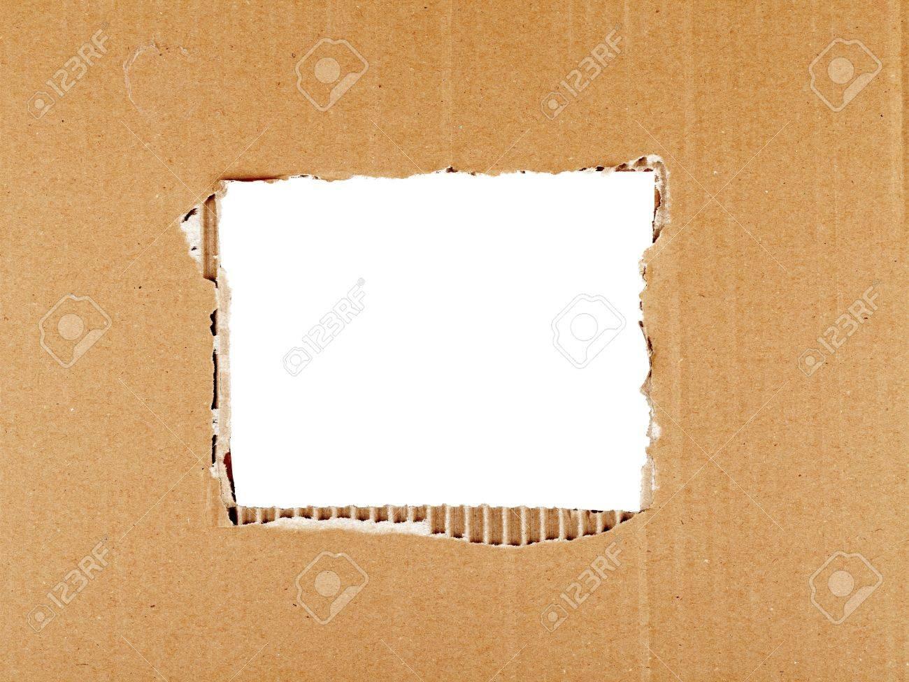 Cartón Rasgado Con Agujero Cuadrado Marco Formando Fotos, Retratos ...