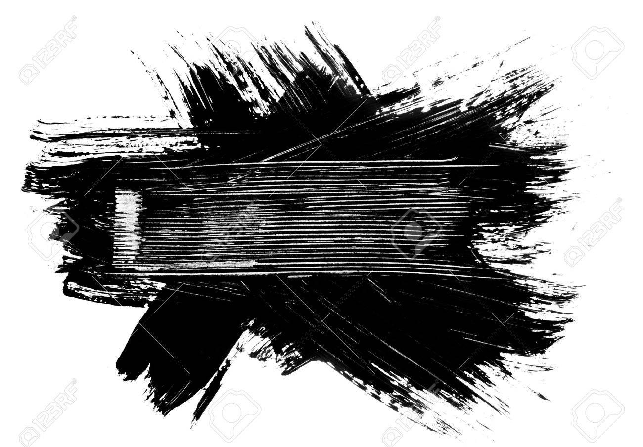 Grunge Pincel Trazos En Dificultades Bandera Elemento Ilustración ...