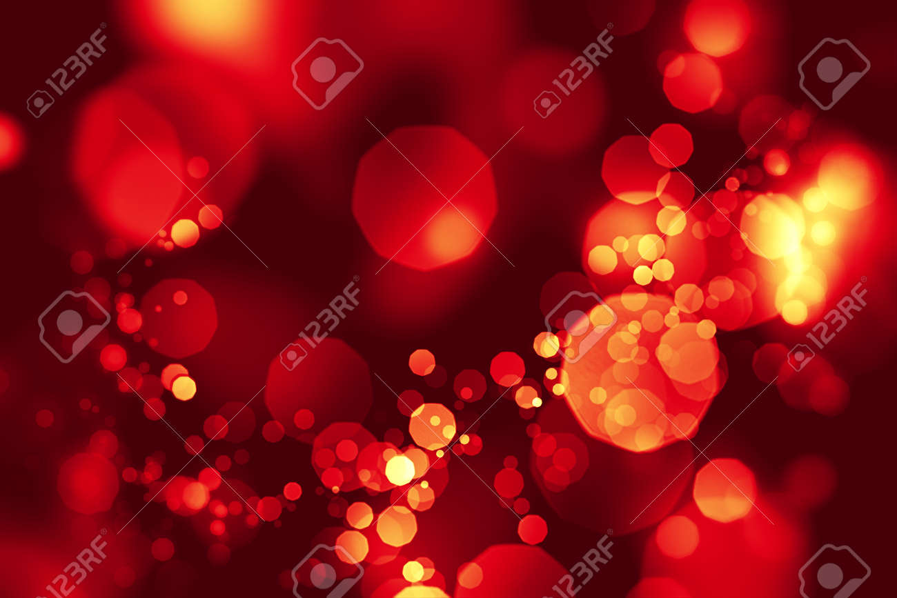 Red Colored Shiny Defocused Abstract Love Or Valentine S Day Stock