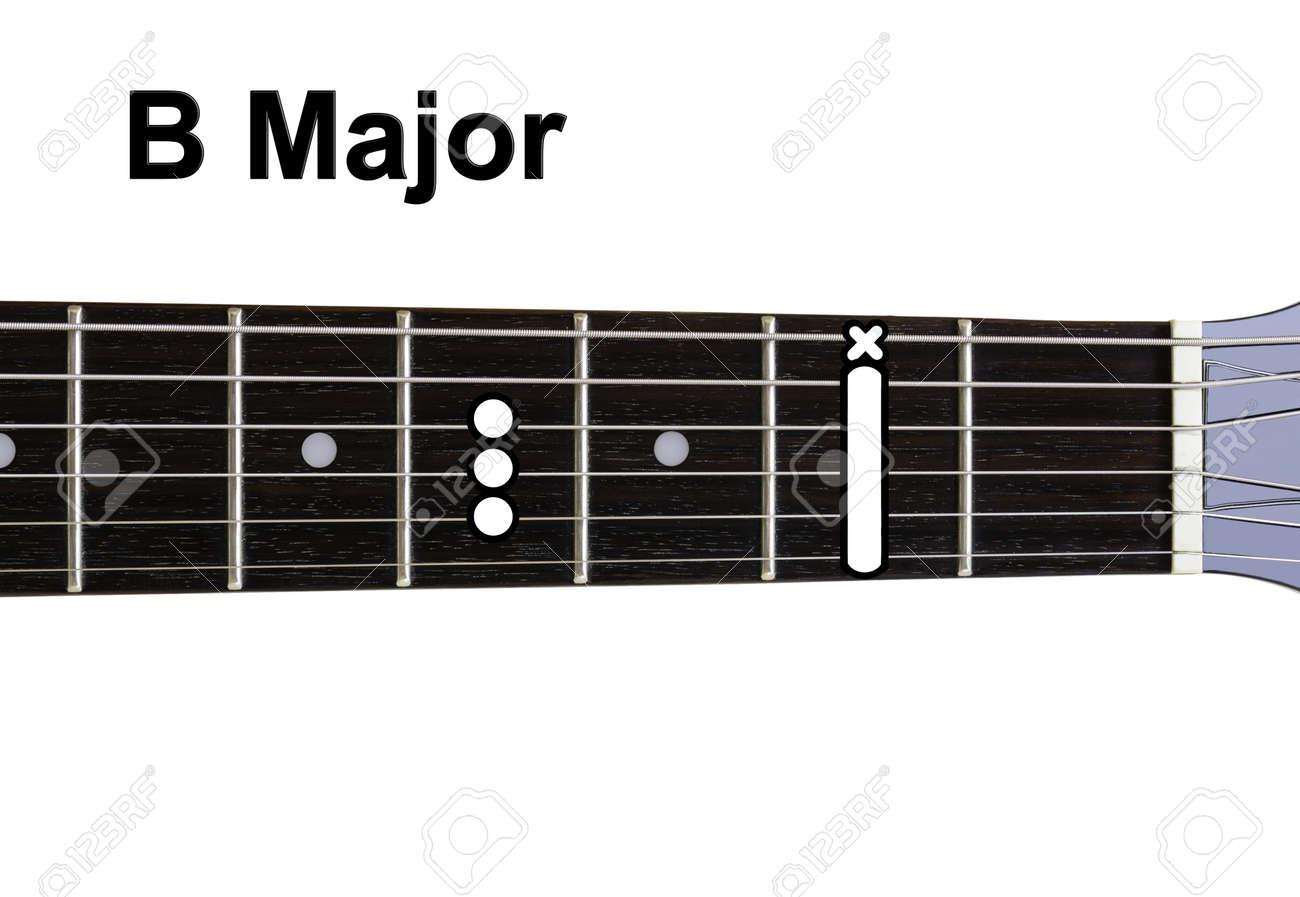 Guitar Chords Diagrams B Major Series Strings Diagram Stock Photo 15216486