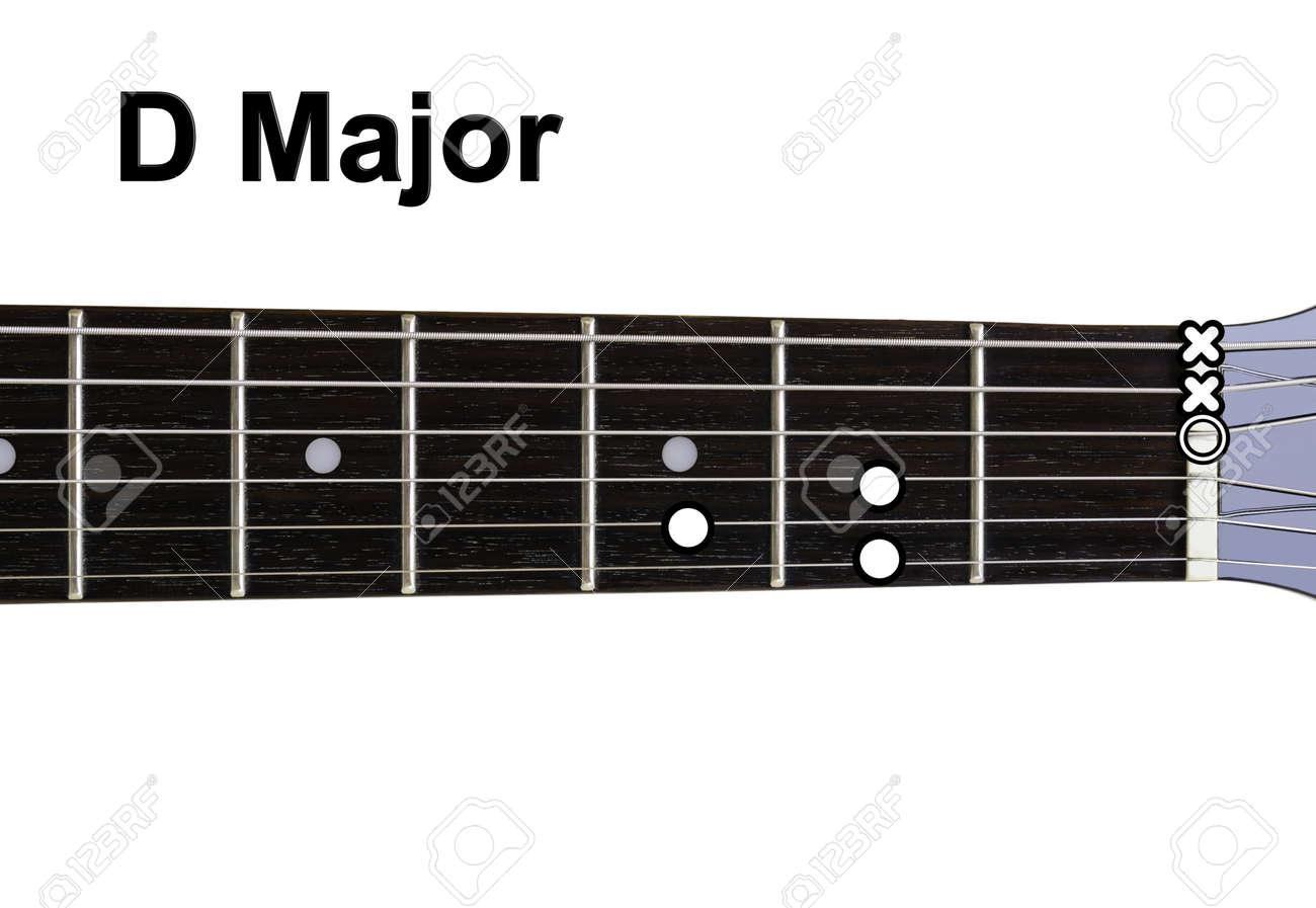 guitar chords diagrams - d major  guitar chords diagrams series  stock  photo - 15216449
