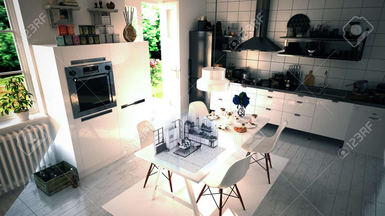 Küche Interior Design Augmented Reality Lizenzfreie Fotos, Bilder ...