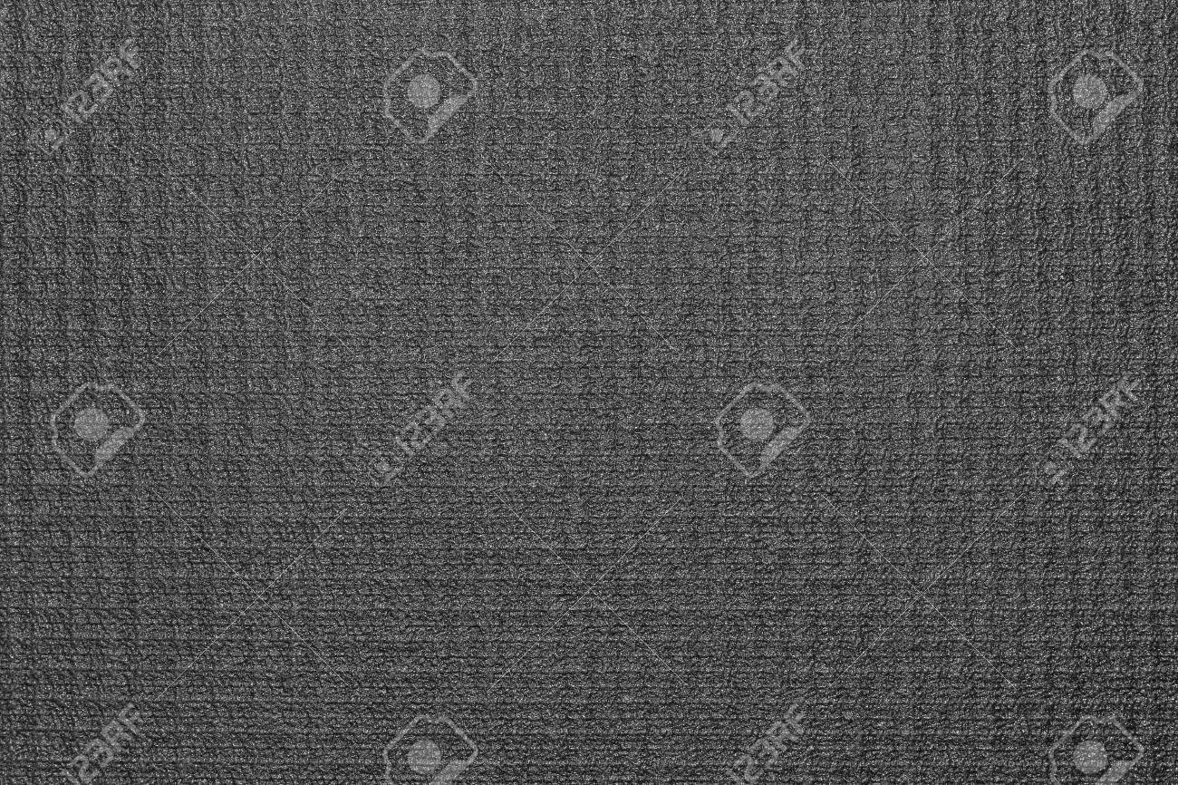 Black Yoga Mat Texture Background Stock Photo