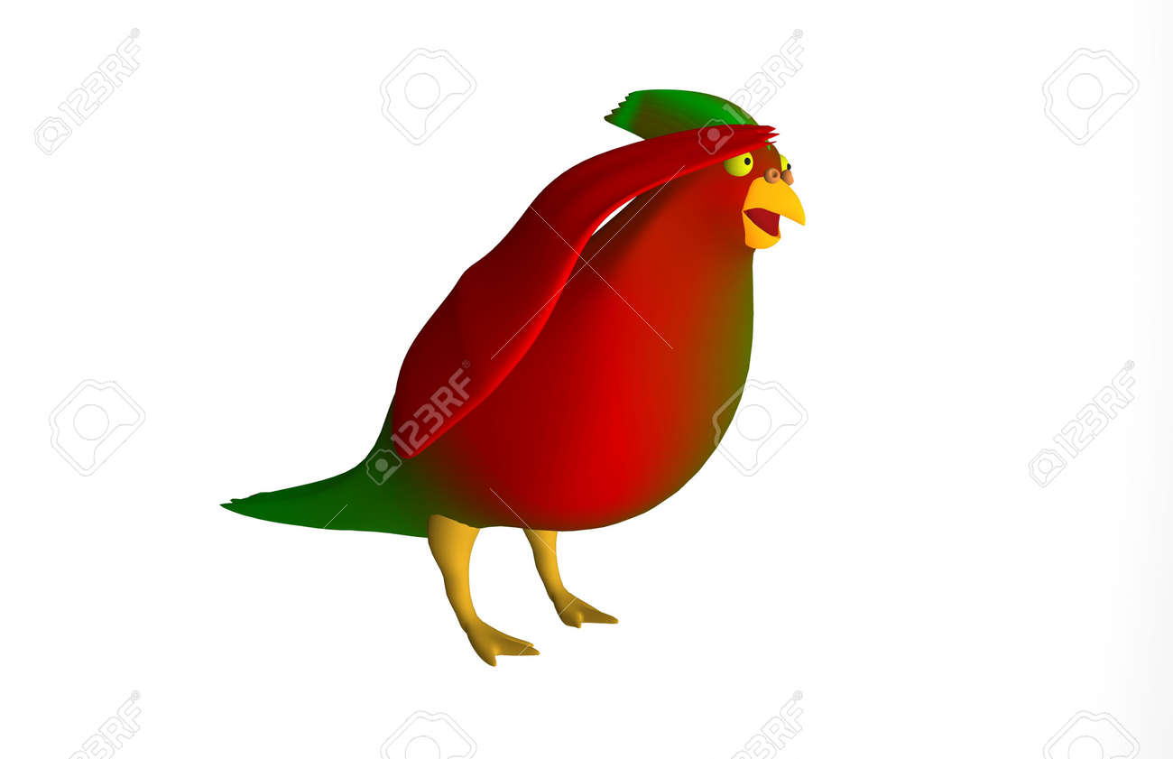 To saluted parrot on white background Stock Photo - 17204186
