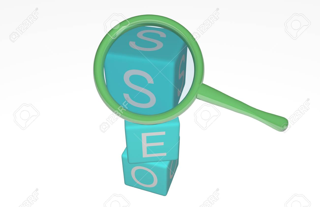 Concept seo isolated on white Stock Photo - 17747122
